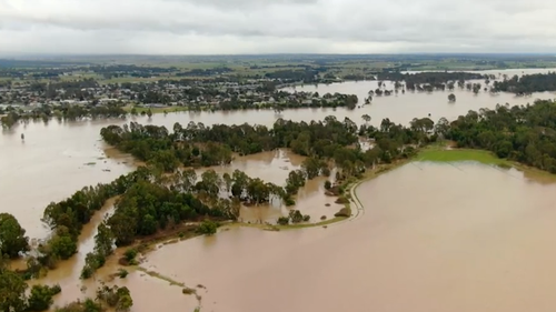 In Gippsland rivers and creeks are well above their normal levels.