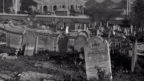 The cemetery became overgrown and was then abandoned until Central station began construction in 1901.