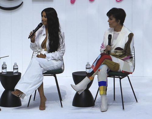 Kim Kardashian with her mother Kris Jenner at the Business Of Fashion Presents The Inaugural BoF West Summit held at the Westfield in Los Angeles. Picture: PA