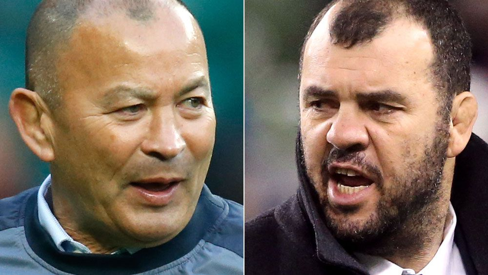 Eddie Jones and Michael Cheika. (AAP)