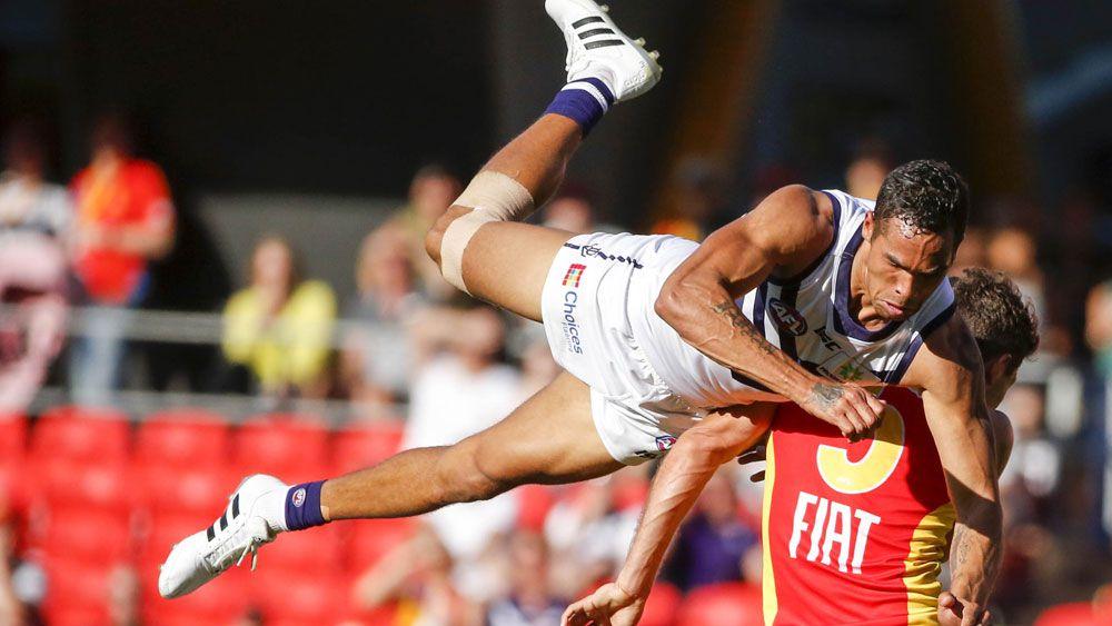 AFL Suns' key forwards carve up Dockers