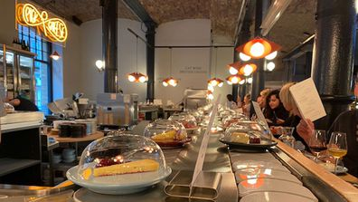 9Honey checks out the world's first cheese conveyor belt restaurant Pick & Cheese, in London's Covent Garden
