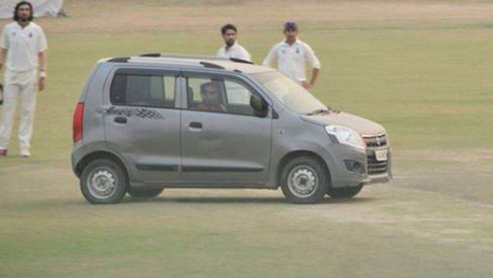 Car on Delhi pitch.