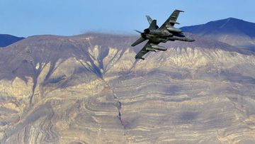 Jets routinely fly through the so-called 'Star Wars canyon' in Death Valley.