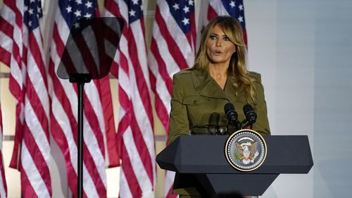 Melania Trump offered her sympathies to those who have lost loved ones in the coronavirus pandemic.