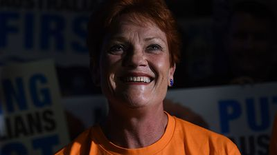 <strong>WINNER</strong><br> Pauline Hanson (One Nation) - strong primary vote across Queensland has hurt a number of candidates.