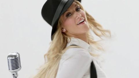 You can leave your hat on! Delta Goodrem teases strip video