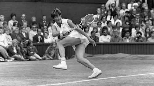 Margaret Court at Wimbledon in 1970. (AAP)