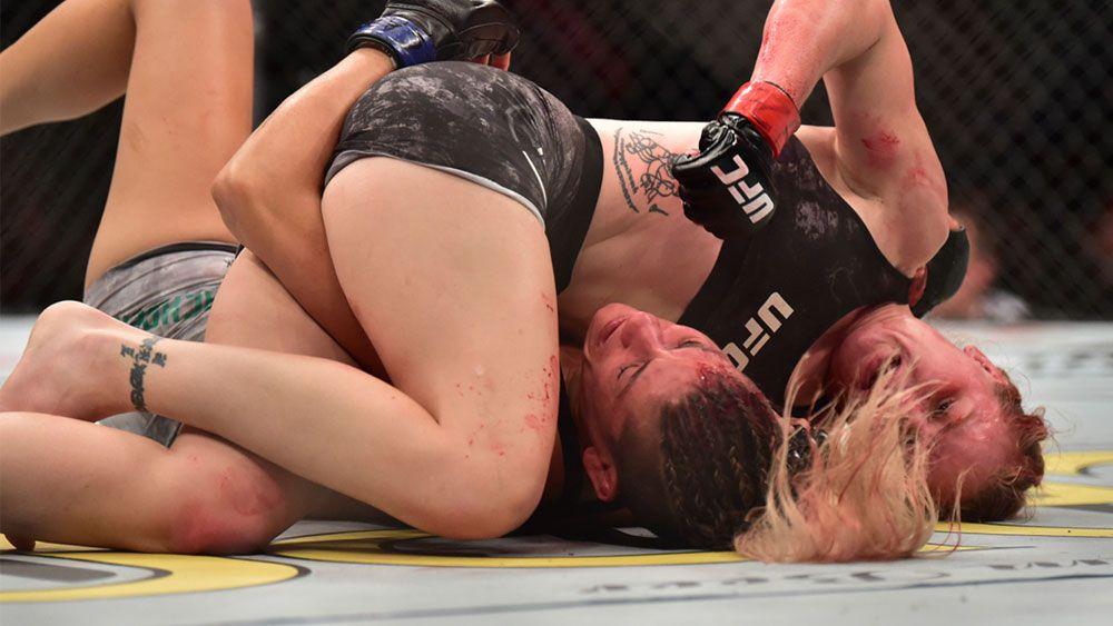 Valentina Shevchenko vs Priscila Cachoeira: UFC referee blasted for failing  to stop 'bloodbath'