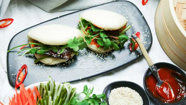 The Giles' Sticky Pork Bao Bun